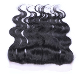 Wholesale Three Bundles Hair - 13x4 Lace Frontal Closures and Brazilian Peruvian Indian Malaysian Hair Bundles Top Lace Frontal Closures Human Hair