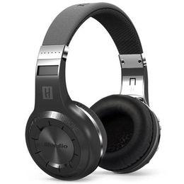 Wholesale Bt Micro - Bluedio H+ Bluetooth Headsets Stereo Wireless Headphones Mic Micro-SD port FM Radio BT 4.1 Over-ear headphones