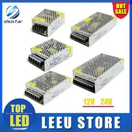 Wholesale Wholesale 15 Supplies - LED switching power supply LED power supply 12V  24v 3A 5A 10A 12A 15  20  25A 60w Led Strip light 5050 3528 transformer 100-240V lighting