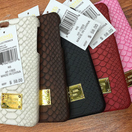 Wholesale Iphone5 Back Case - Superior Brand New Leather Paster Back Cover Python Pattern Hard Shell Cell Phone Cases for Iphone5 Iphone6 6plus
