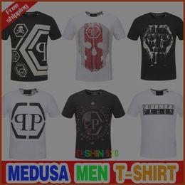 Wholesale High Fashion Clothing Brands - New Skull brand German Men shirt Best quality Italy high-end designer clothing shape perfect Asian Medusa men's T-shirt code size M--3XL
