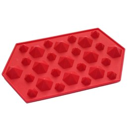 Wholesale Cool Soaps - Hot Sale 3D Diamonds Gem Cool Ice Cube Chocolate Soap Tray Mold Silicone Fodant Moulds Random Colors