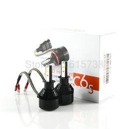 Wholesale Led Fan Car - H3 Car LED Headlight 6400lm 60W Auto Kit Ballasts+lamps+fans+box Headlamp Xenon H1 H3 H7 H8 H9 H11 9005 9006 HB3 HB4 880 881
