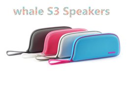 Wholesale altavoz subwoofer - Bluetooth Speaker s3 Radio Portable Whale Style Wireless Stereo Altavoz 2000mAh capacity Support TF Line in For Phones Laptop X-YX