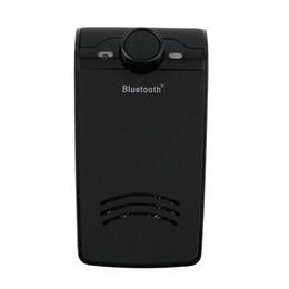 Visiere parasole prive di mani libere online-BT-828 Kit vivavoce per auto Bluetooth senza fili Vivavoce per auto Sun Visor Clip per MP3 Distanza 10 m per iPhone con caricabatteria per auto
