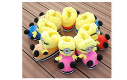Wholesale Minions House - Wholesale-Winter Funny Anime Despicable Me Minions Plush Slippers Adult Women Warm Home House Slipper Christmas Novelty Shoes