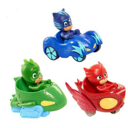 toy slides Promo Codes - New Arrival PJ Vehicle Characters Slide Cars Catboy Owlette Gekko Cloak Action Figure Toys Boy Birhday Gift for Kids