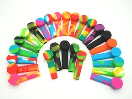 Wholesale Pipes For Tobacco Smoking - 10Xfactory direct sale Silicone Smoking Pipe with Bowl Silicone Tobacco Pipes for Smoking Dry Herb Unbreakable Water Percolator Bong Smoking