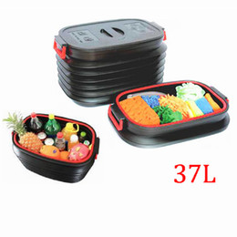 Wholesale Organizer For Car Trunk - 37L Collapsible Car Organizer With Cover Best Storage Compartment Box for Car Interior trunk Outdoor Camping