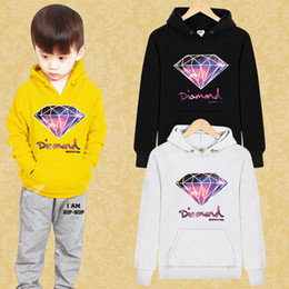 Wholesale Europe Winter Coat - (A seven Tide brand)100% cotton Boys   Girls Europe US Diamond Hoodies & Sweatshirts children's coats Family fitted Hoodie 8 color options