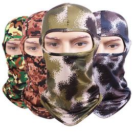 Wholesale Adjustable Skull Face Mask - Camouflage Tactical Headgear CS Mask Outdoor Sports Cap Bicycle Cycling Fishing Motorcycle Masks Ski Balaclava Halloween Full Face Mask