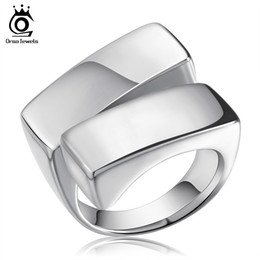 Wholesale Unique Stainless Designs - Unique Design Signet Ring for Men High Polished 316L Stainless Steel Band Biker Ring for Men Party Jewelry GTR06