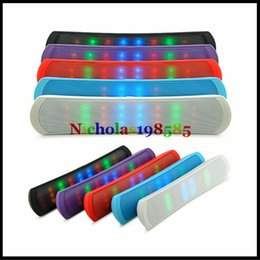 Wholesale Up Mp3 Speaker - LED Light Flash BE13L BE-13L JHW-V319 UP Mini Portable Wireless Bluetooth Speaker Bulit-in Handsfree Mic FM TF USB Pills Pulse Speakers Too