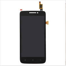 Wholesale Lenovo Lcd Monitors - Wholesale- for Lenovo S650 650 LCD Display Panel Screen Monitor Moudle + Touch Screen Digitizer Glass Sensor Lens Assembly +Tracking Number