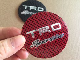 Wholesale Trd Rav4 - 56MM TRD Sport Aluminium Wheel Hub Center Cap Sticker for Toyota Corolla c-hr RAV4 Camry Yaris Styling Car Accessory