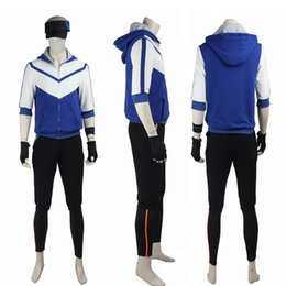 Wholesale Avatar Movie - HOT Game&Anime COS Pocket Monster Trainer Avatar Uniform Cosplay Costume Blue Color Any Size Full Suit For Unisex