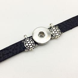 Wholesale Tortoise Jewelry Charm - Fashion New Sale One Direction Jewelry Bracelets For Women Tortoise Retro Leather Snap Button Bracelet Bt614 (fit 18mm 20mm Snaps) party dre