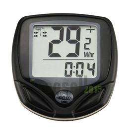 Wholesale Lcd Multi Function Bike - Cycle Computer Leisure 14-Functions Waterproof Odometer Speedometer With LCD Display Bike Speedometer Bicycle Cycling Computer KCLME-5801