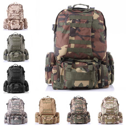 Wholesale Backpack Military Molle Tactical - Free DHL Outdoor Molle 3D Military Tactical Backpack Rucksack Bag For Camping Traveling Hiking Trekking 8 Color E599L