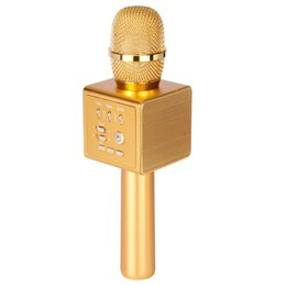 Wholesale Chip Speaker - I6 Bluetooth Wireless USB Microphones 2 Speakers DSP Chip Dimensional Sound Voice Fonts For iPhone Android Retail Package