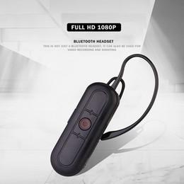 Auriculares bluetooth para cámara online-HD 1080P Bluetooth Auricular cámara estenopeica Auriculares inalámbricos Bluetooth Video Recorder Auriculares portátiles vigilancia de seguridad DVR M1