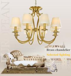 Wholesale Lamp Shades For Chandeliers - Vintage 8- Lights Metal Chandelier Ceiling Lights Antique Brass Chandeliers Lamp Shade Lighting for Home Deco