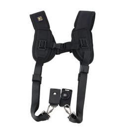 Wholesale Digital Camera Slr - 1pc Neck Strap Sling Double Dual Shoulder Belt For Digital SLR DSLR Camera high quality Brand New