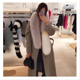 Wholesale Fox Patchwork Scarf - Womens winter scarf luxury brand scarves fox fur scarfs foulards echarpe hiver femme fulares mujer schal YYA648