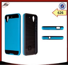 Wholesale Cell Combo - 2016 Slim Armor Combo Line Style PC TPU Mobile Phone Case For HTC 626 cell phone back cover