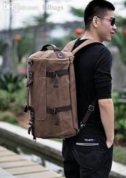 Wholesale Backpack Duffle - Wholesale-Multi-Function Backpacks Canvas Men's Outdoor Backpacks Women Sport Bag Backpacks Bags Men Duffle Mochilas
