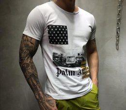 Wholesale White Letter Transfers - Personalized street fashion, cotton letters, thermal transfer printing, black and white short sleeve T-shirt