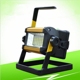 Wholesale Portable Rechargeable Spotlight - Smd2835 36 leds 30W rechargeable led floodlights waterproof portable spotlights outdoor led work emergency led camping lighting