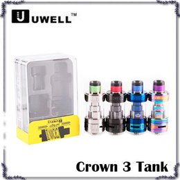 Wholesale Tank Top Large - Uwell Crown 3 Tank with 5.0ml e-Juice Capacity with Top Filling Large Clouds Crown III 0266125-01