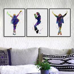 Wholesale Michael Jackson Figures - Original Watercolor This Is It Music Celebrity Michael Jackson Art Prints Poster Picture Canvas Painting Wall Art Decor No Frame