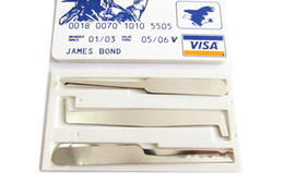 Wholesale Credit Card Pick Set - DHL Free Shipping The Controller James Bond Pocket credit card lock pick set (5 pcs) Durable Ultra Small Easy Carry