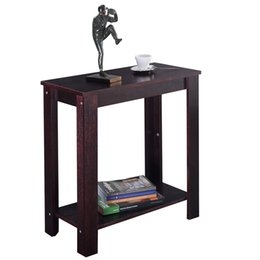 Wholesale Furniture End Tables - Wooden End Shelf Living Room Furniture Chair Side Table Coffee New