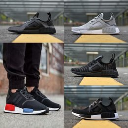 Wholesale M Ducks - New NMD_XR1 Primeknit Shoes Triple White Black Zebra Duck Camo Men Women Running shoes sneakers Original NMD R1 PK Boost US Size 36-45