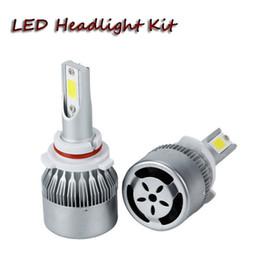 Wholesale Super Bright Led Light Kit - C6 H4 H13 9004 9007 5202 cob LED car headlight bulb kit 8000lm automobiles super bright 6000K auto LED headlamp front light