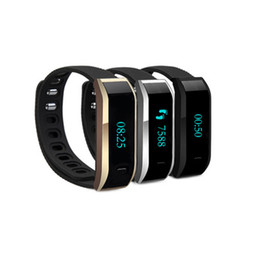 Wholesale Electronic Sports Bracelets - Health Pedometer Bluetooth Sport Band HR07 Heart rate Wristband Electronic Bracelet Original Tracker Call Reminder Smartwatch