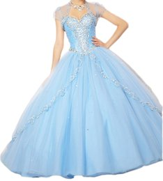Wholesale Winter Jackets For Girls Image - Sexy Sweetheart 2017 Girl Quinceanera Dresses Ball Gown Sleeveless Floor Length Debutante Dresses Great Beads For Sweet 15 Dress with Jacket