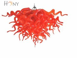 Wholesale Vintage Mini Chandelier - Free Shipping AC LED Customized Style Unique Light Festival Decoration High Ceiling Mini Red Crystal Chandelier
