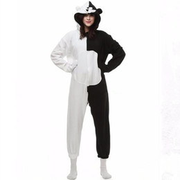23f4c2717616 Danganronpa Dangan Ronpa Monokuma Monomi Bear Fleece Onesie Pyjama Costume  Halloween Carnival Party Clothing Cartoon Jumpsuit Sleepwear