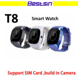Wholesale Ios Upgrade - T8 Smart Watch wearable devices LBS tracker Bluetooth 3.0 Camera Support SIM Card M26 Upgraded version With the Retail Box
