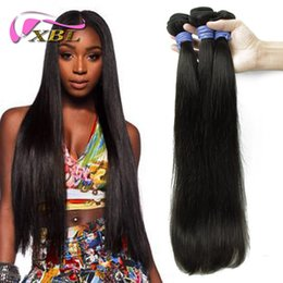 Wholesale Bulk 18 Inch Virgin Hair - Top Selling Straight Hair Malsyain Bulk Human Hair For XBL 3 Pieces Free Shipping Within 30% Off