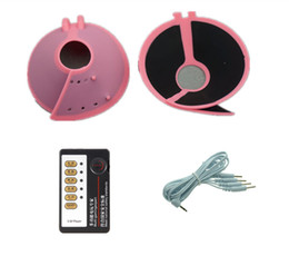 Wholesale breast enhancing - Breast Pad Enhancer Electrical Pulse Digital Enhancing Massage Breast Growth Massager Electric Shock Stimulation Cup Kit For Women Pink