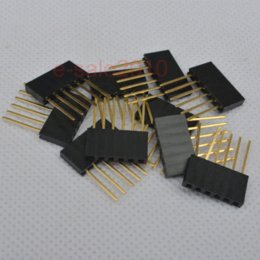 Wholesale Arduino Female Header - 20pcs 6 Pin Female tall stackable Header Connector socket for Arduino Shield 270 connector ring connector ddk