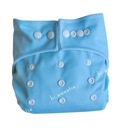 Wholesale Aio Cloth Diapers Large - New 1 pc Light Blue One Size Baby Infant cloth diaper nappy cover and 1 pc liner insert