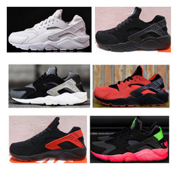 Wholesale Promotion For Women - (Big promotion) 6 Colors Air Huarache Running Shoes For Men Women,All Black White Triple Red Sneakers Huaraches Ultra Sports Shoes eur 36-45