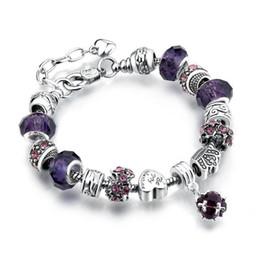 Lavender Purple Foil Murano Glass Heart Dangle Charm for European Slide Bracelet