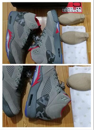 Wholesale Camo Lycra Men - High quality Air Retro 5 CAMO cheap 5s DARK STUCCO Whih High Quality Men and Women size New Style AAAA Basketball Shoes Sneakers